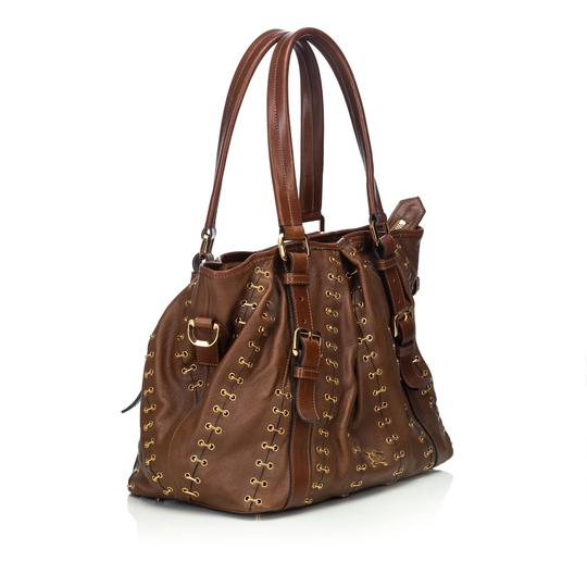 Burberry 9cbust008 Vintage Leather Satchel in Brown Image 1