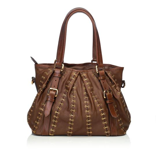 Burberry 9cbust008 Vintage Leather Satchel in Brown Image 2