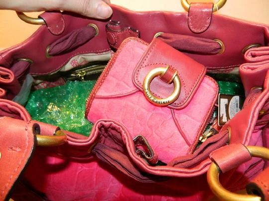 Juicy Couture New With Tags Coach Wallet Set Daydreamer Tote in Vivid Pink/Rust Red/Gold/Brass Image 11