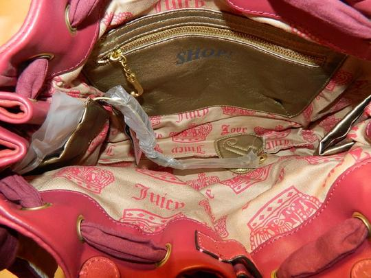 Juicy Couture New With Tags Coach Wallet Set Daydreamer Tote in Vivid Pink/Rust Red/Gold/Brass Image 2