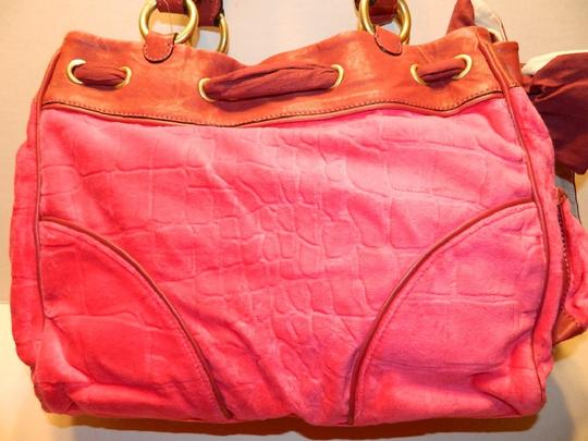 Juicy Couture New With Tags Coach Wallet Set Daydreamer Tote in Vivid Pink/Rust Red/Gold/Brass Image 3