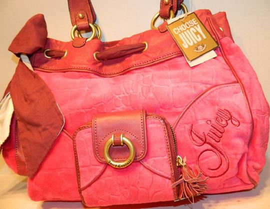 Juicy Couture New With Tags Coach Wallet Set Daydreamer Tote in Vivid Pink/Rust Red/Gold/Brass Image 6