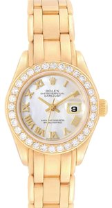 Rolex Rolex Pearlmaster Yellow Gold MOP Diamond Bezel Ladies Watch 69298