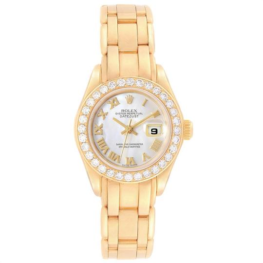 Rolex Rolex Pearlmaster Yellow Gold MOP Diamond Bezel Ladies Watch 69298 Image 1