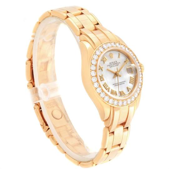 Rolex Rolex Pearlmaster Yellow Gold MOP Diamond Bezel Ladies Watch 69298 Image 2