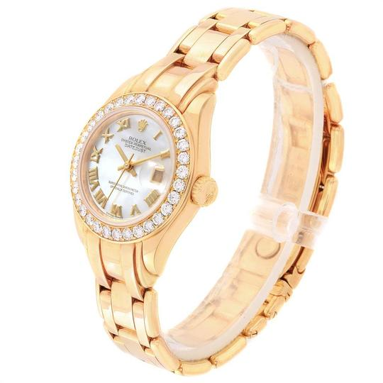 Rolex Rolex Pearlmaster Yellow Gold MOP Diamond Bezel Ladies Watch 69298 Image 3