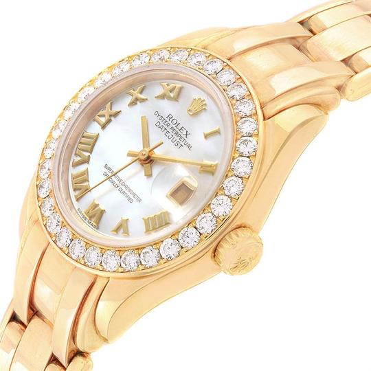 Rolex Rolex Pearlmaster Yellow Gold MOP Diamond Bezel Ladies Watch 69298 Image 4