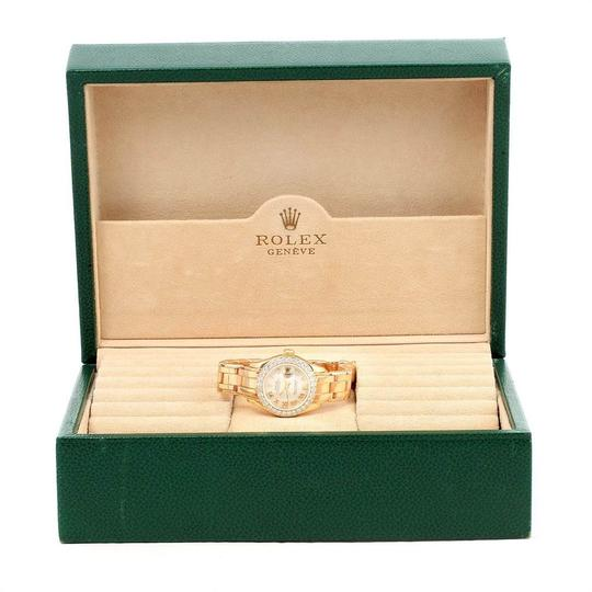 Rolex Rolex Pearlmaster Yellow Gold MOP Diamond Bezel Ladies Watch 69298 Image 9