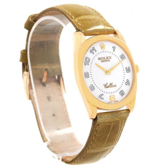 Rolex Rolex Cellini Danaos Yellow Gold Brown Strap Mens Watch 4233 Papers Image 2