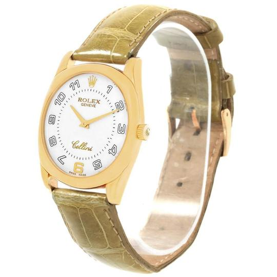 Rolex Rolex Cellini Danaos Yellow Gold Brown Strap Mens Watch 4233 Papers Image 3