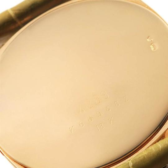 Rolex Rolex Cellini Danaos Yellow Gold Brown Strap Mens Watch 4233 Papers Image 7