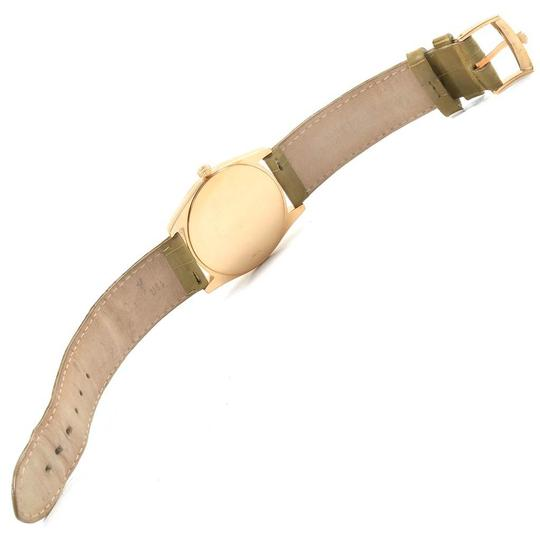 Rolex Rolex Cellini Danaos Yellow Gold Brown Strap Mens Watch 4233 Papers Image 9