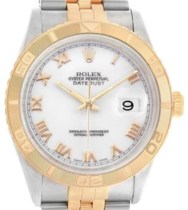 Rolex Rolex Datejust Turnograph Steel Yellow Gold White Dial Mens Watch 1626