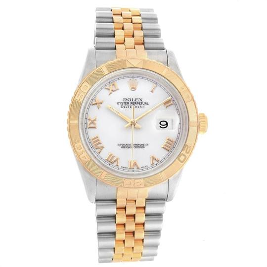 Rolex Rolex Datejust Turnograph Steel Yellow Gold White Dial Mens Watch 1626 Image 1