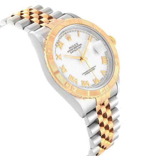 Rolex Rolex Datejust Turnograph Steel Yellow Gold White Dial Mens Watch 1626 Image 2