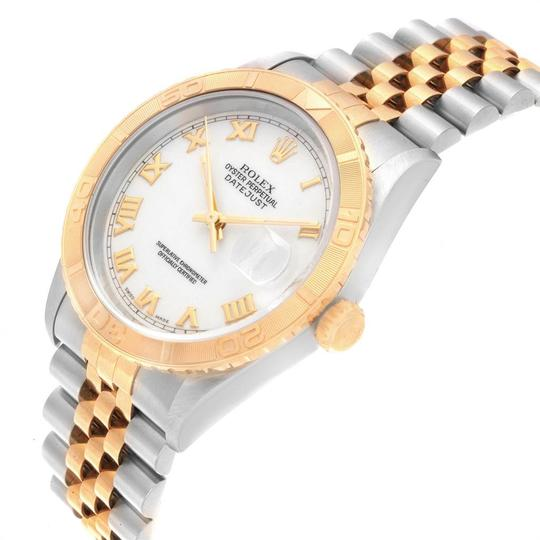 Rolex Rolex Datejust Turnograph Steel Yellow Gold White Dial Mens Watch 1626 Image 3
