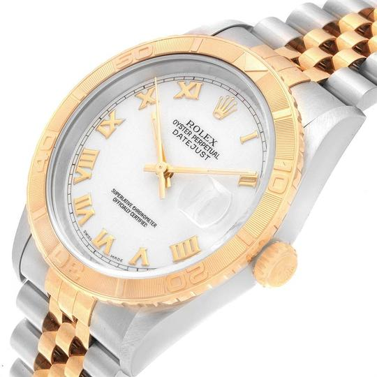 Rolex Rolex Datejust Turnograph Steel Yellow Gold White Dial Mens Watch 1626 Image 4