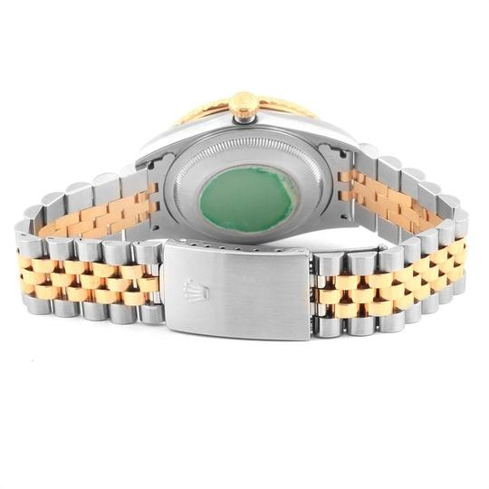 Rolex Rolex Datejust Turnograph Steel Yellow Gold White Dial Mens Watch 1626 Image 8