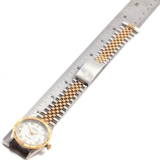 Rolex Rolex Datejust Turnograph Steel Yellow Gold White Dial Mens Watch 1626 Image 9