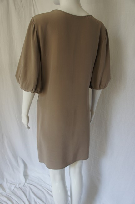 A|X Armani Exchange Silk Bell Sleeves Chain Dress Image 2