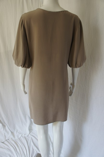 A|X Armani Exchange Silk Bell Sleeves Chain Dress Image 3