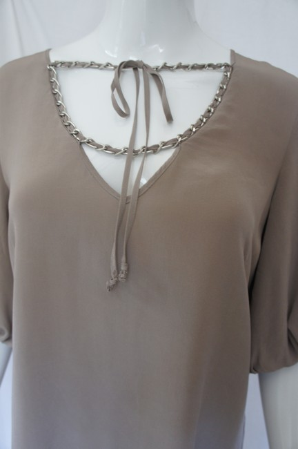 A|X Armani Exchange Silk Bell Sleeves Chain Dress Image 8