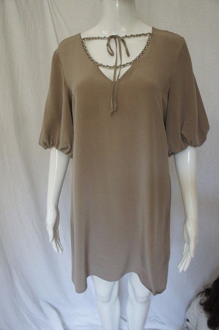 A|X Armani Exchange Silk Bell Sleeves Chain Dress Image 9