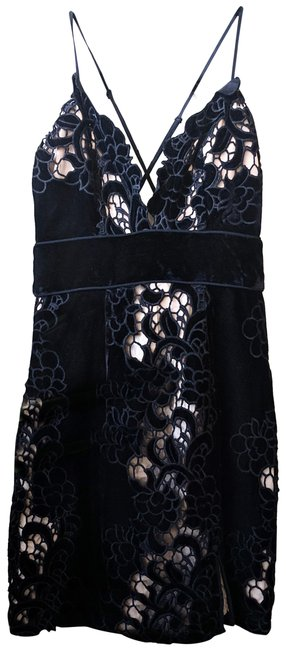 SAYLOR Shift Embroidered Mini Lace Dress Image 0