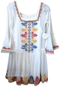 Tularosa short dress White Embroidered Mini on Tradesy