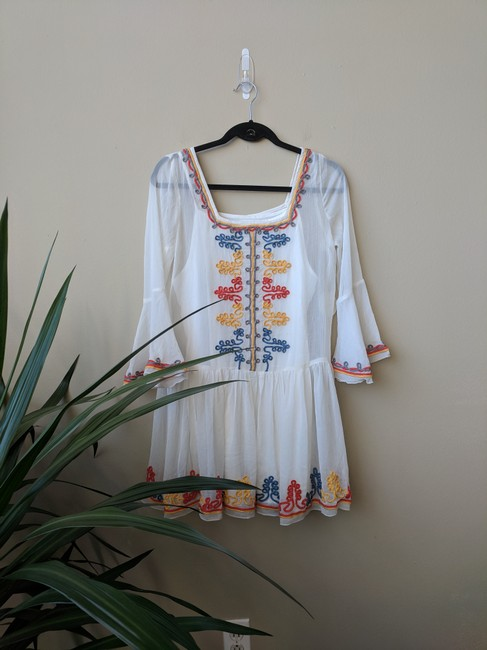 Tularosa short dress White Embroidered Mini on Tradesy Image 1