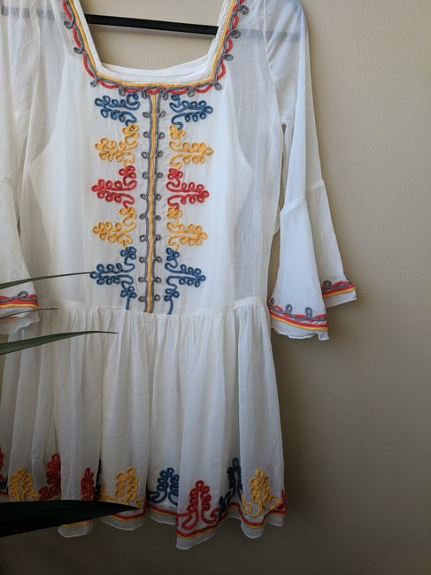 Tularosa short dress White Embroidered Mini on Tradesy Image 2