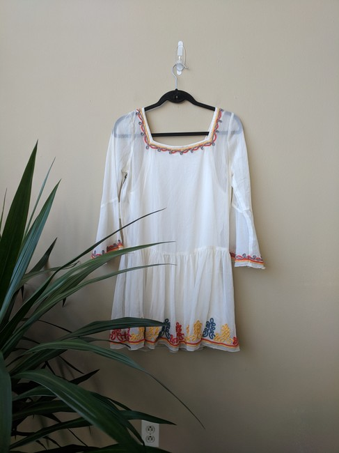 Tularosa short dress White Embroidered Mini on Tradesy Image 3