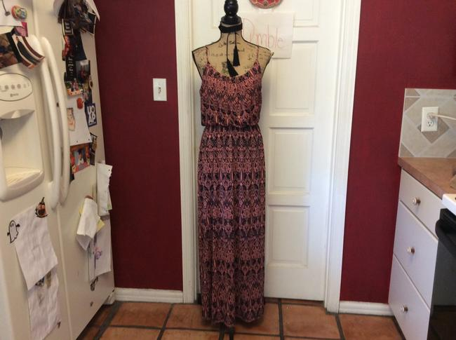 black & pink Maxi Dress by Love Luscious Image 1