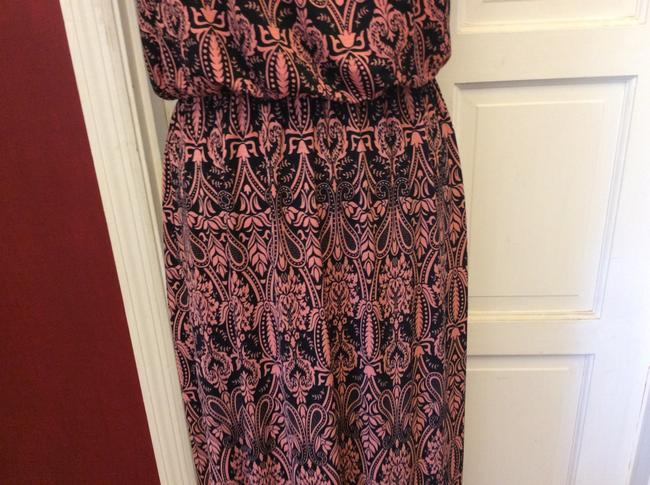 black & pink Maxi Dress by Love Luscious Image 3