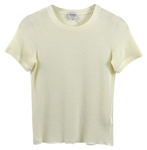 Armani Collezioni Fall Winter Spring Luxury Date Night T Shirt Ivory
