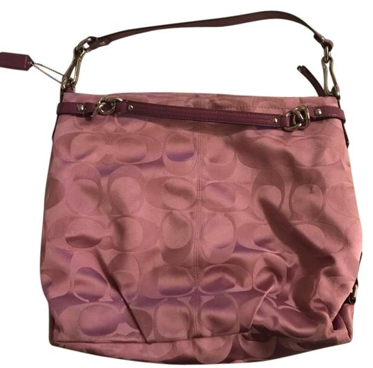 Preload https://img-static.tradesy.com/item/25170527/coach-carly-signature-purse-pink-hobo-bag-0-1-540-540.jpg
