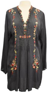 Johnny Was short dress Gray Embroidered Floral on Tradesy