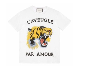 Gucci Vintage Italy Cotton T Shirt white