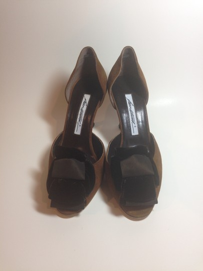 Brian Atwood Like New Suede Brown Pumps Image 3