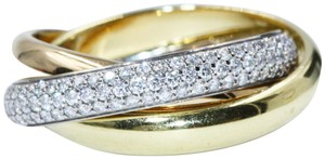 Cartier TRINITY RING CLASSIC WHITE GOLD YELLOW GOLD PINK GOLD DIAMONDS