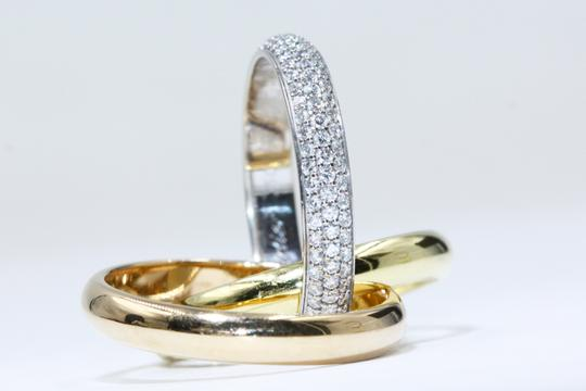 Cartier TRINITY RING CLASSIC WHITE GOLD YELLOW GOLD PINK GOLD DIAMONDS Image 1