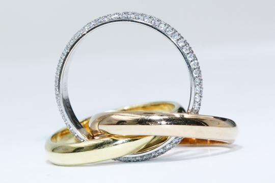 Cartier TRINITY RING CLASSIC WHITE GOLD YELLOW GOLD PINK GOLD DIAMONDS Image 3