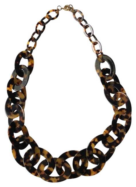 Item - Brown Tortoise Shell Link Necklace