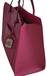 Furla Shoulder Spring Summer Leather Tote in fuchsia