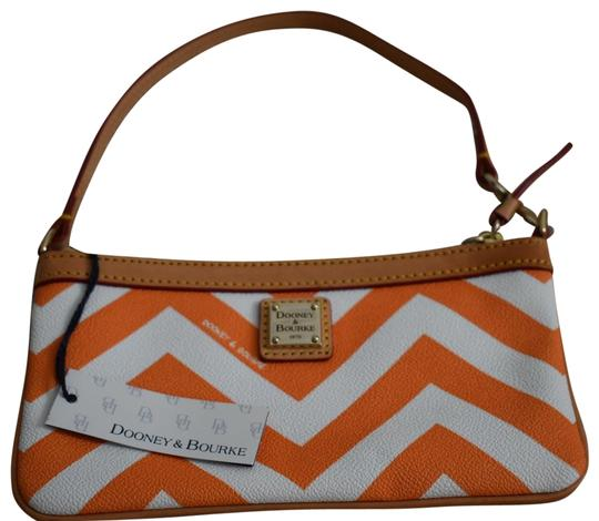 Dooney & Bourke Night Out Leather Wristlet in Orange Image 0