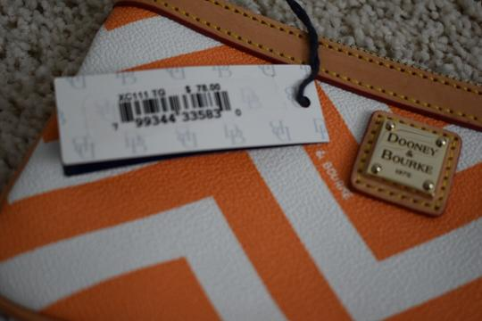 Dooney & Bourke Night Out Leather Wristlet in Orange Image 2