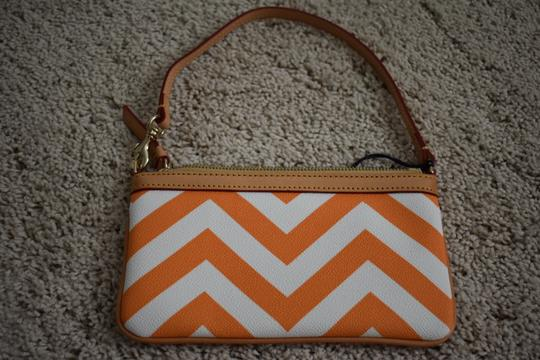 Dooney & Bourke Night Out Leather Wristlet in Orange Image 3