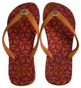 Tory Burch Summer Spring Vacation Flat Pink / Orange Sandals