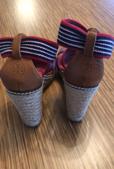 Tory Burch red blue and white Wedges Image 3
