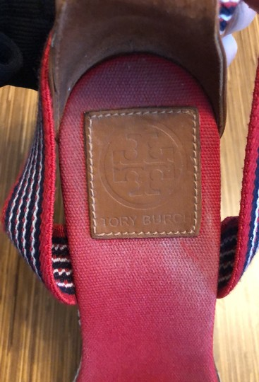 Tory Burch red blue and white Wedges Image 6